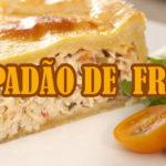EMPADÃO DE MASSA PODRE COM RECHEIO DE FRANGO