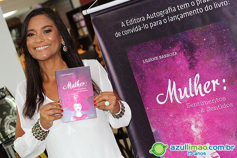 """Lançamento do Livro """"Mulher: Sentimentos & Sentidos"""" por Liliane Barboza – Livraria Nobel – Cavaleiros – Macaé-RJ"""