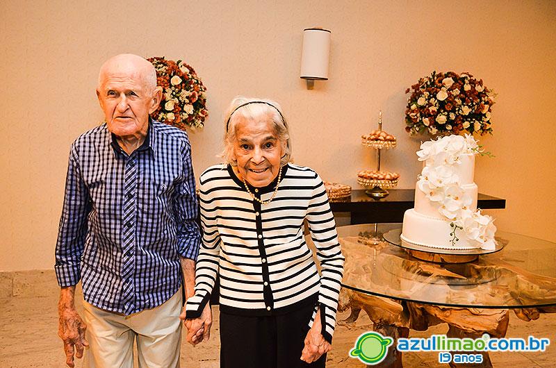 Maria Nazareth e Almir Barbosa – Bodas de 63 anos – Igreja São João Batista – Royal Atlântico Hotel – Macaé-RJ